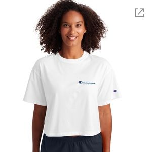 Champion white cropped top